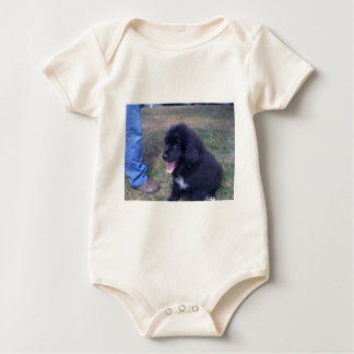 Lovely Newfie puppy (Newfoundland dog breed) Baby Bodysuit