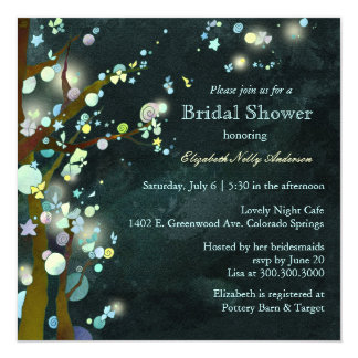 Lovely Night Elf Forest Bridal Shower Card