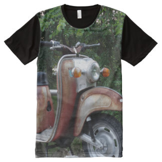 Lovely Old Scooter Men  American Apparel All-Over All-Over-Print Shirt