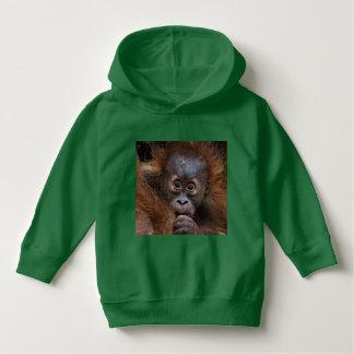 lovely orang baby hoodie