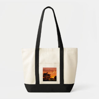 Lovely Orange Sunset with Tree & Bird Silhouettes Tote Bag