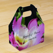 Lovely Orchid Wedding Gable Favor Box
