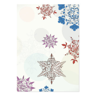lovely ornate christmas snowflakes art large business card