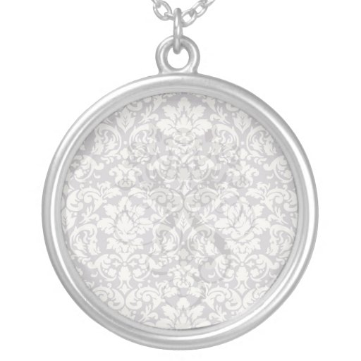 lovely ornate ivory on grey taupe damask jewelry