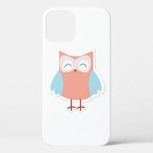 lovely owl design iPhone 12 pro case