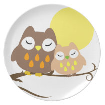 Lovely Owl Dinner Plate