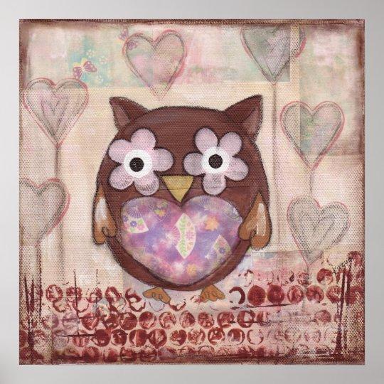 Lovely Owl Poster