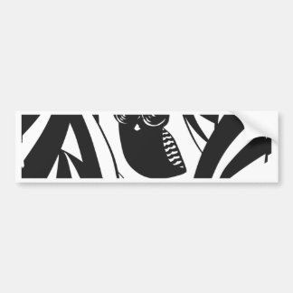 Lovely owl with camera eyes bumper sticker