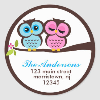 Lovely Owls Address Labels