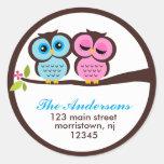 Lovely Owls Address Labels Sticker
