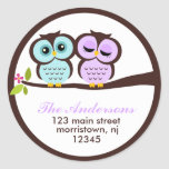 Lovely Owls Address Labels Stickers