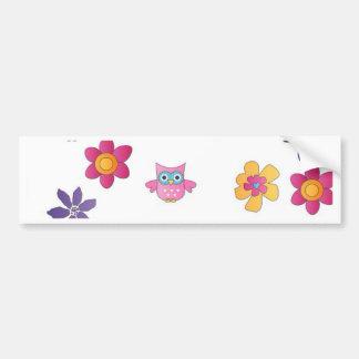 lovely owls bumper sticker