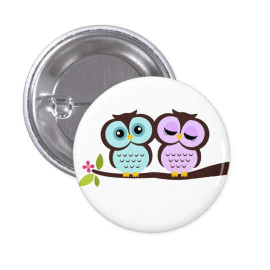 Lovely Owls Button