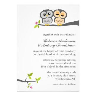 Lovely Owls Custom Wedding Invite