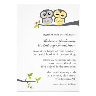 Lovely Owls Custom Wedding Custom Invite