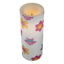 lovely owls flameless candle