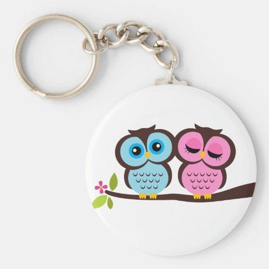 Lovely Owls Keychain