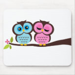 Lovely Owls Mouse Pad