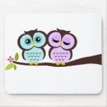 Lovely Owls Mousepads