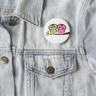 Lovely Owls Pinback Button