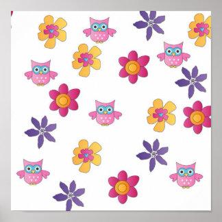 lovely owls poster