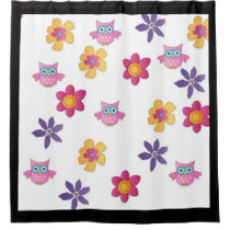 lovely owls shower curtain