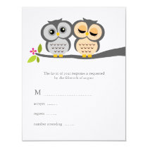 Lovely Owls Wedding Response Cards