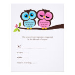 Lovely Owls Wedding Response Cards Announcement