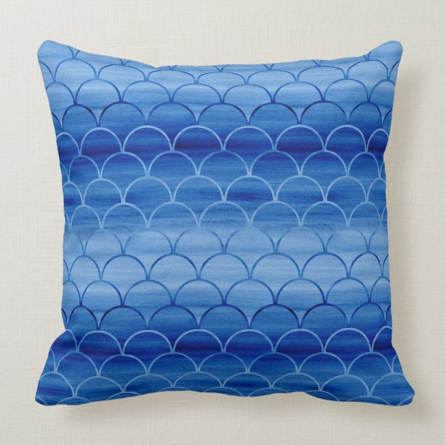 Lovely Painted Light and Dark Blue Scale Pattern