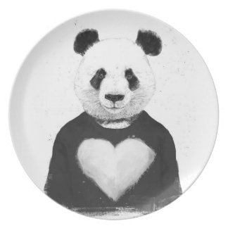 Lovely panda plate