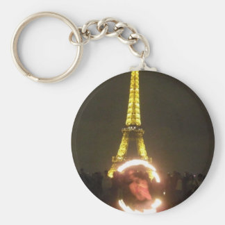 Lovely Paris City of Lights Basic Round Button Keychain