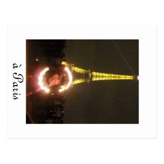 Lovely Paris City of Lights Postcard