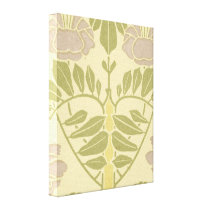 lovely pastel art nouveau floral design canvas print