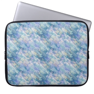 Lovely Pastel Blue & Pink  Laptop Sleeve 15 inch