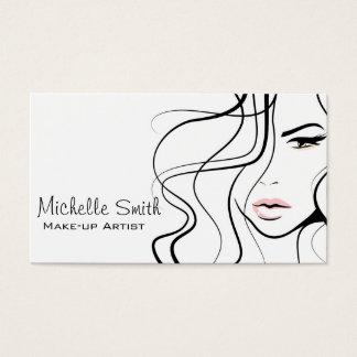 Lovely pastel make up artist  branding business card