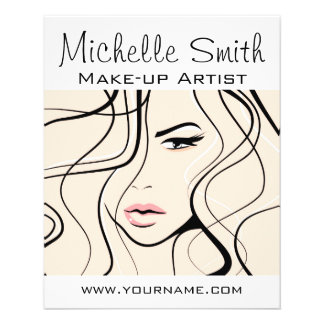 Lovely pastel make up artist  branding flyer