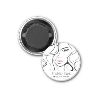 Lovely pastel make up artist  branding magnet