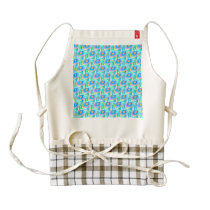 lovely pastel pattern zazzle HEART apron