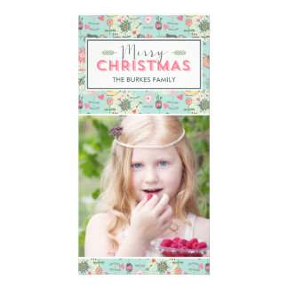 Lovely Pattern Christmas Holiday Photo Card
