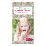 Lovely Pattern Christmas Holiday Photo Card Photo Greeting Card