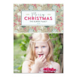 Lovely Pattern Christmas Holiday Photo Cards