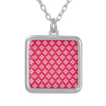 lovely pattern pinks.jpg silver plated necklace