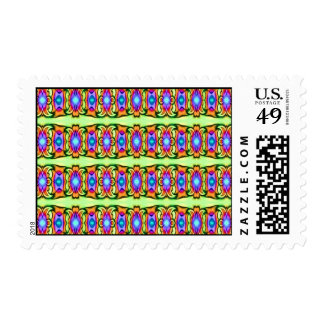 lovely pattern postage stamp