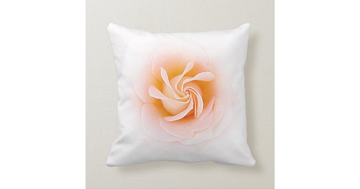 Lovely Peach Colored Rose Throw Pillow Zazzle Com