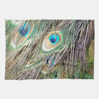 Lovely Peacock Feather Eyes With New Growth Towel