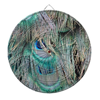 Lovely Peacock Feathers Big Blue Eyes Dart Boards