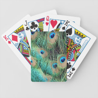 Lovely Peacock Feathers With New Grouch Bicycle Playing Cards