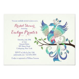 Lovely Peacock Invitation