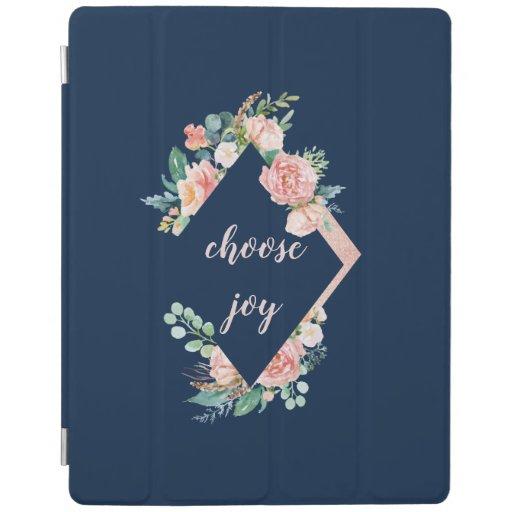 Lovely Peony Bouquet Choose Joy iPad Smart Cover