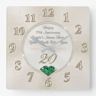 Lovely Personalized 20th Anniversary Gifts, Clock